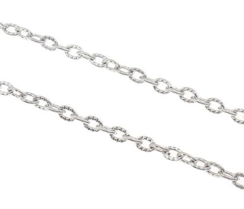 300cm METALLKETTE 4mm GLIEDERKETTE BASTELKETTE Schmuckkette Silber BEST K12