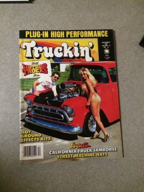 Truckin' Magazine December 1987 hot rod ground effects Great Vintage Articles !!