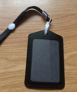 PORTE BADGE Noir Tour De Cou Carte Credit Pass ID Card Holder - Porte badge tour de cou