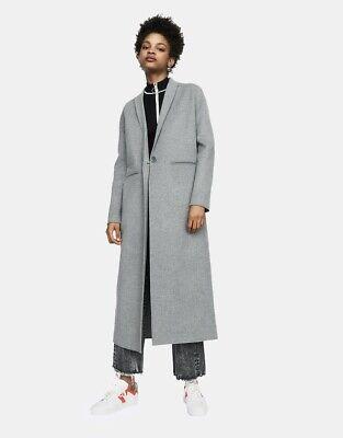 manteau maje gris long