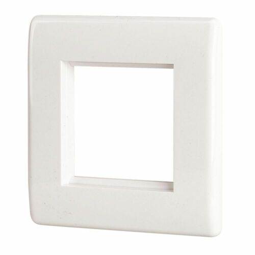 LAP 1-Gang Front Plate with Double Module Aperture White NEW