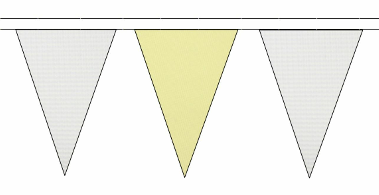 blanc & Beige Triangular Flag Bunting - 50m with 120 Flags