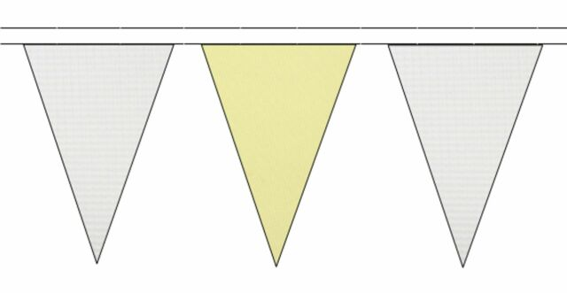 20m with 48 Flags Yellow Royal Blue /& White Triangular Flag Bunting
