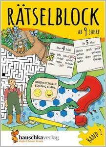 NEU-Raetselblock-fuer-Kinder-ab-9-Jahren-Raetselspass-mit-Loesungen-Band-2