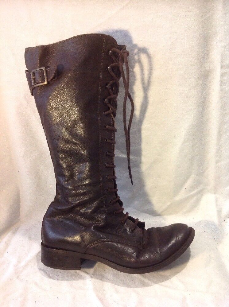 Jones Boot Maker Brown Mid Calf Leather Boots Size 38