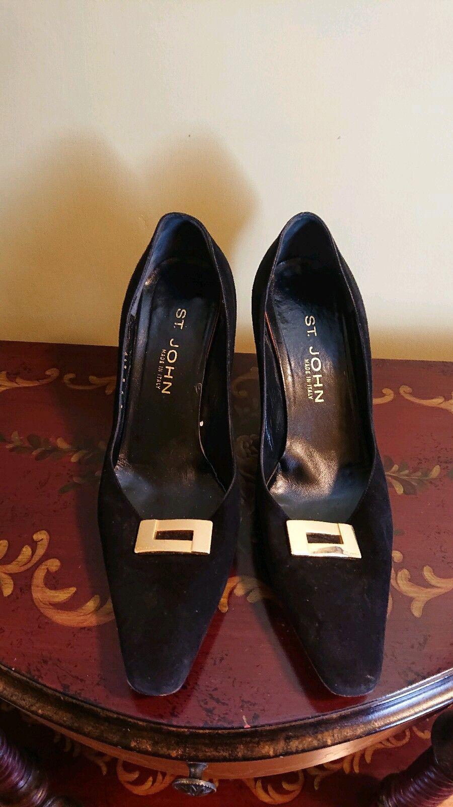 St. John Designer Femme Talons Escarpins Chaussures Noir Taille 9