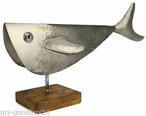 Xl metallfisch deko fisch dekoration fische metall figur for Goldorfe fisch