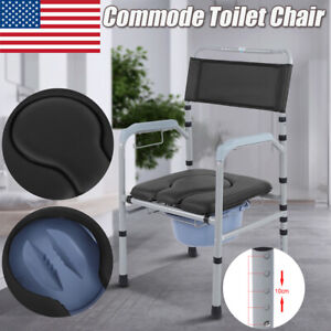 Toilet Seat For Elderly.Details About Adjustable Commode Portable Toilet Seat Riser Bathroom Foldable Chair Elderly Us