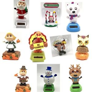 Solar-Powered-Figures-Dancing-Moving-Animated-Bobble-Christmas-Thanksgiving-Fall
