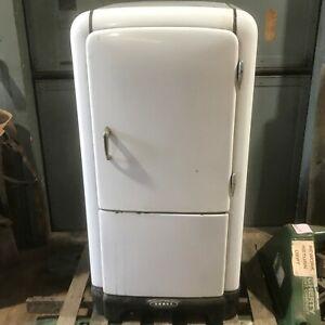 Antique-30s-Norge-Rollator-Refrigerator-Porcelain-Fridge-Kitchen-Cooler-CAN-SHIP