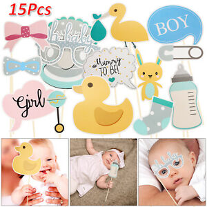 15pcs-Oh-Baby-Photo-Booth-Props-Birthday-Baby-Shower-Party-Decoration-Unisex