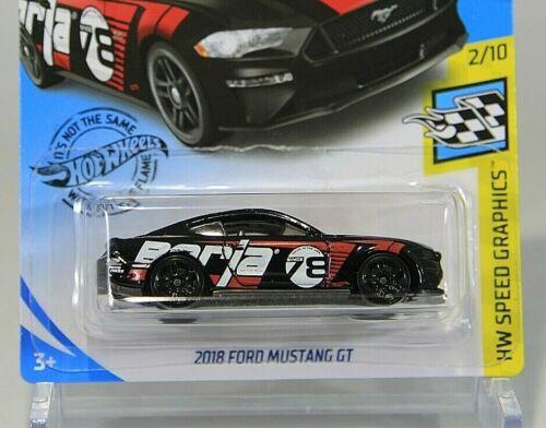 Hot Wheels NIP 2018 Ford Mustang GT - HW Speed Graphics 2//10 Black 2020