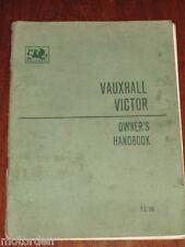 1961 Vauxhall VICTOR SERIES FB OWNER HANDBOOK nice condition FREE POST