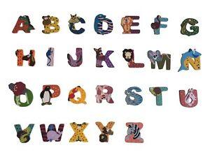 Bunte Buchstaben Tiere Holzbuchstaben A Z Namen Turschild Holz