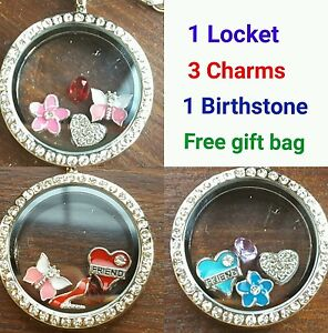 Special locket keyring necklace floating charms pendant 30mm image is loading special locket keyring necklace floating charms pendant 30mm aloadofball Image collections