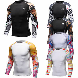 Men-039-s-Compression-Tops-Dri-fit-Long-Sleeve-Tights-Under-Base-Layer-Gym-T-shirts