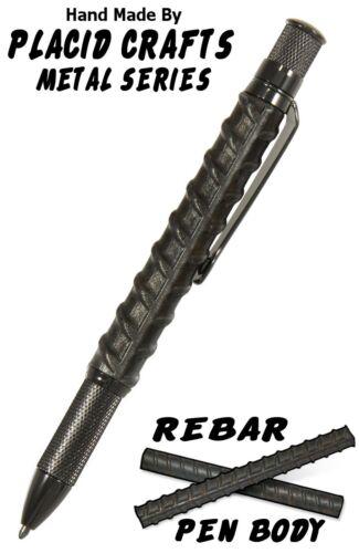 #KGR1 Knurl Ballpoint Pen with Genuine Rebar Pen Body /& Gunmetal Hardware