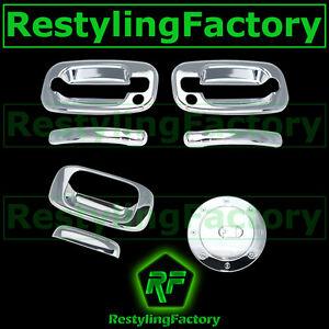 99-06-Chevy-Silverado-Triple-Chrome-2-Door-Handle-PSG-KH-Tailgate-Gas-Tank-Cover