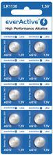 10 X Everactive AG10 LR 54 - LR1130 - L1131 - 189 Knopfzelle Uhrenbatterie 1,5 V