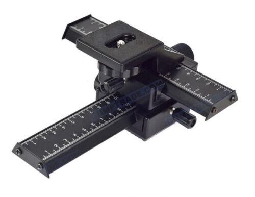 Mettle macro-cruz trineo adaptador 4-caminos ajuste-trineo cámara-Carril
