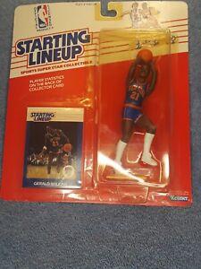 1988 SLU Basketball Gerald Wilkins Knicks Starting Lineup Figure Yellowing