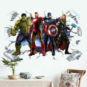 2019-Super-Hero-Avengers-Hulk-Peel-and-Stick-Wall-Sticker-Kids-Room-Stickers