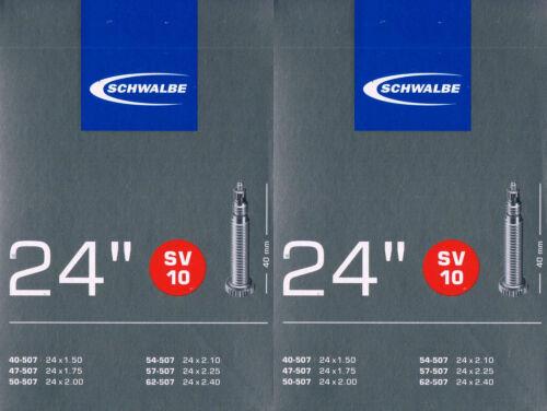 Französisch Sclaverand SV10 24 Zoll 2x Schwalbe SV 10 Schlauch 24 507 Ventil