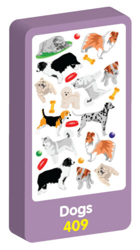 Alphabet Stickers by Purple Peach Dogs Smiley,Smiley Fun,Hearts /& Stars,Cats