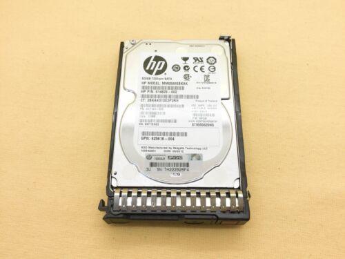 655708-B21 HP 500GB 7.2K 6G MDL SFF SATA SC HDD 656107-001