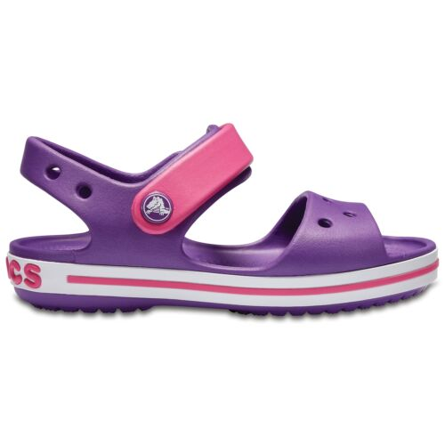 Crocs 12856 CROCBAND SANDAL Kids Girls Summer Sandals Amethyst//Paradise Pink