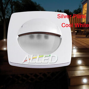 12V-Waterproof-Cool-White-LED-Square-Courtesy-Light-Boat-Stair-Caravan-Lamp