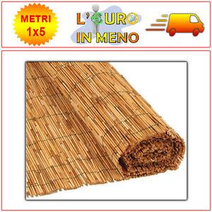 Arella In Bamboo Metri 1x5 Mt Canniccio Arelle Canne Per Recinzione Ombra Bambu Ebay