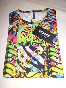Versace-Versus-Multicolor-T-Shirt-Jersey-size-M