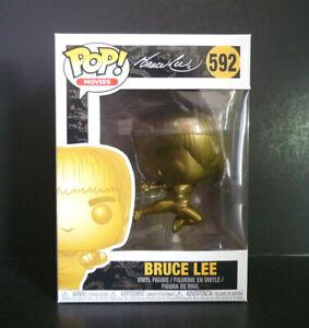 FUNKO POP Bruce Lee Kicking Gold #592 Exclusive Vinyl Figure *NEW OTHER*