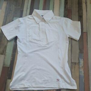 Aubrion short Sleeve Tie Show Shirt UK 8  XS  white