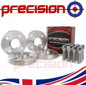 2 Pairs of Hubcentric 20mm Spacers with Bolts Nuts for Fiat Coupe Alloy Wheels