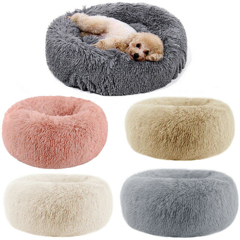 Comfy Calming Dog Cat Bed Round Warm Soft Plush Pet Bed Marshmallow Cat Bed XXXL 7