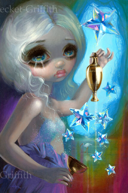 Jasmine Becket-Griffith art print tarot card fairy goddess SIGNED The Star