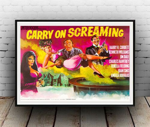 vintage carry on advertising Carry on Screaming Poster reproduction.