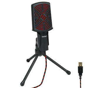 ENHANCE-USB-Condenser-Microphone-for-PC-Laptop-Gaming-with-Adjustable-Stand