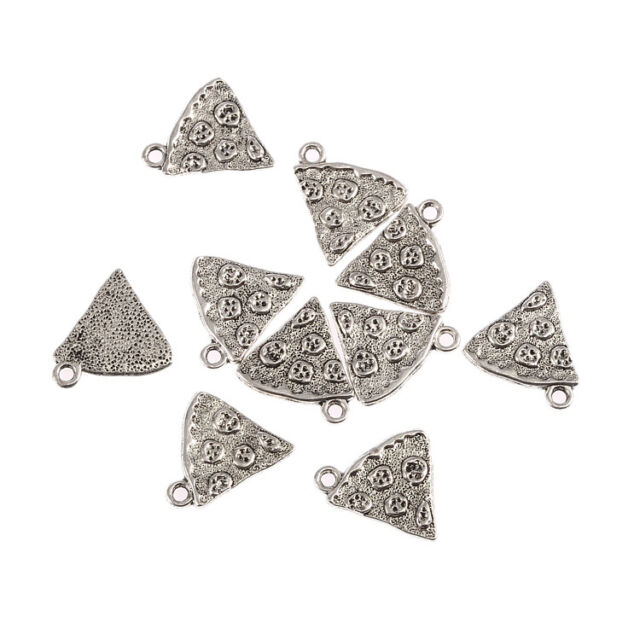 10pcs pizza slice italian food Tibetan Silver Bead charms Pendants 20*18mm
