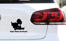 Baby on Board AUTO Heckscheiben AUFKLEBER FUN JDM Sticker Super Baby on Board