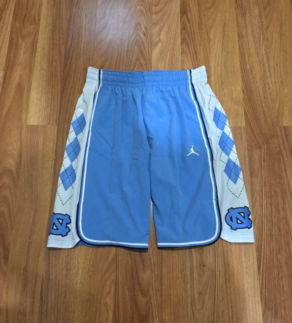 18882442c194e7 AUTHENTIC NIKE JORDAN UNC NORTH CAROLINA TAR HEELS NCAA BASKETBALL SHORTS L