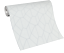 Vliestapete Carat grafisches Muster weiß silber glänzend 10062-31 //1006231