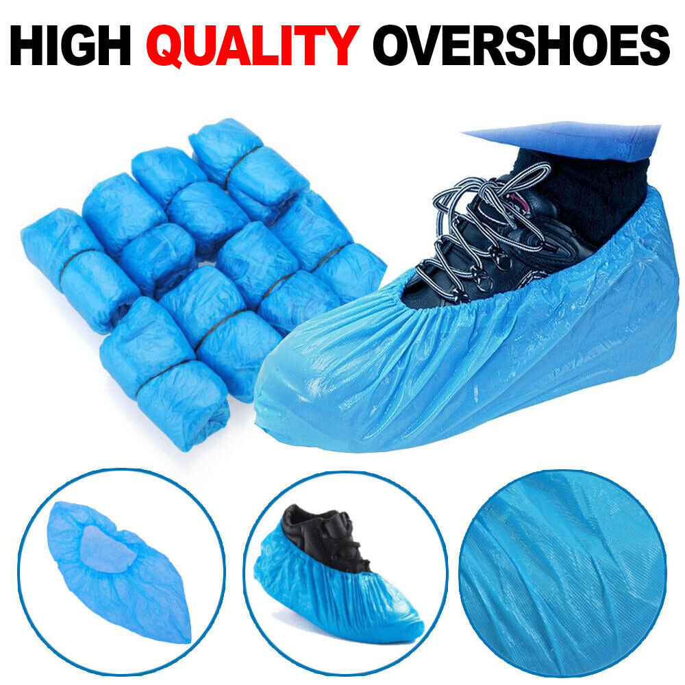 100pcs 50 Pairs Booties Shoe Covers Non Slip Disposable Overshoes Blue HOT ❤ ❤ ❤