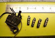Bbi Blue Box Cinturón de escala 1/6 y 4x NO.25 - Gris granadas de 12 pulgadas Figura