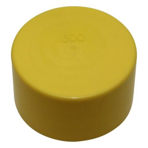 10x HS500 Aufsatz Korpus gelb Durchm.Innen 50mm H 26,4mm Mat LDPE 480500-01