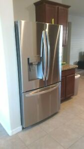 LG 26.2-cu ft Stainless Steel French Door Refrigerator with Dual Ice Maker
