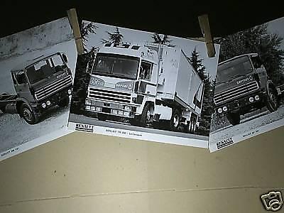 3 FAC SIMILES 1994 DE PHOTOS DE PRESSE 1978 BERLIET FPT 130B11 GRH235