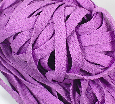 """New 1 Pair Set Lavender Shoelaces Shoe Strings Lace Sneakers Flat 47/"""" Purple"""